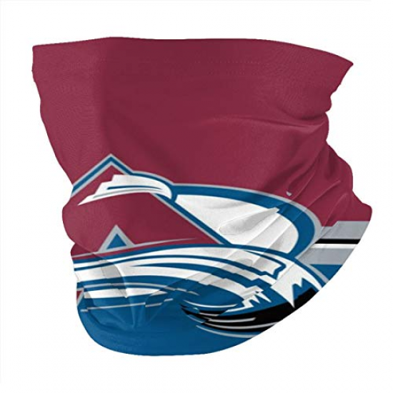 Colorado -Avalanche Neck Gaiter Face Mask Reusable, Washable & Breathable Cloth Shield, Cover & Scarf for UV, Sun & Dust Protection for NBA Team Colorado Avalanche face cover White,Red,Blue