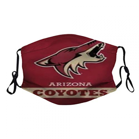 WincosndE Phoenix C-o-y-o-t-e-s (13) Dust Reusable Washable Filter and Reusable Mouth Windproof Warm Cotton Face 2PC for NBA Team Arizona Coyotes face cover Black,Red,Khaki