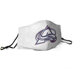 HSDASWA Protective Face Cover Unisex Nose & Mouth Coverings with Safety Shield Fashion Anti Air Dust Cover for NBA Team Colorado Avalanche face cover White,Red,Blue