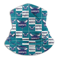 G-III Sports Head Wrap Neck Warm, Dust Proof Head Scarf Cover for Cycling Work for NBA Team Charlotte Hornets face mask White,Blue,Purple