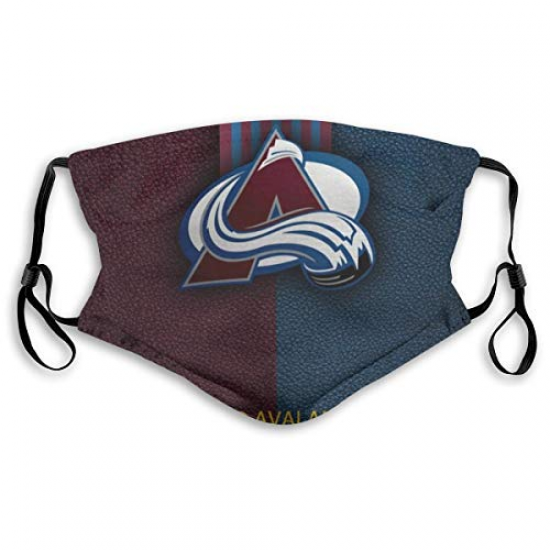 Fremont Die Dust Face Cover Washable Mouth Guard Soft Guard Reusable with Activated Carbon for NBA Team Colorado Avalanche face cover White,Blue,Red